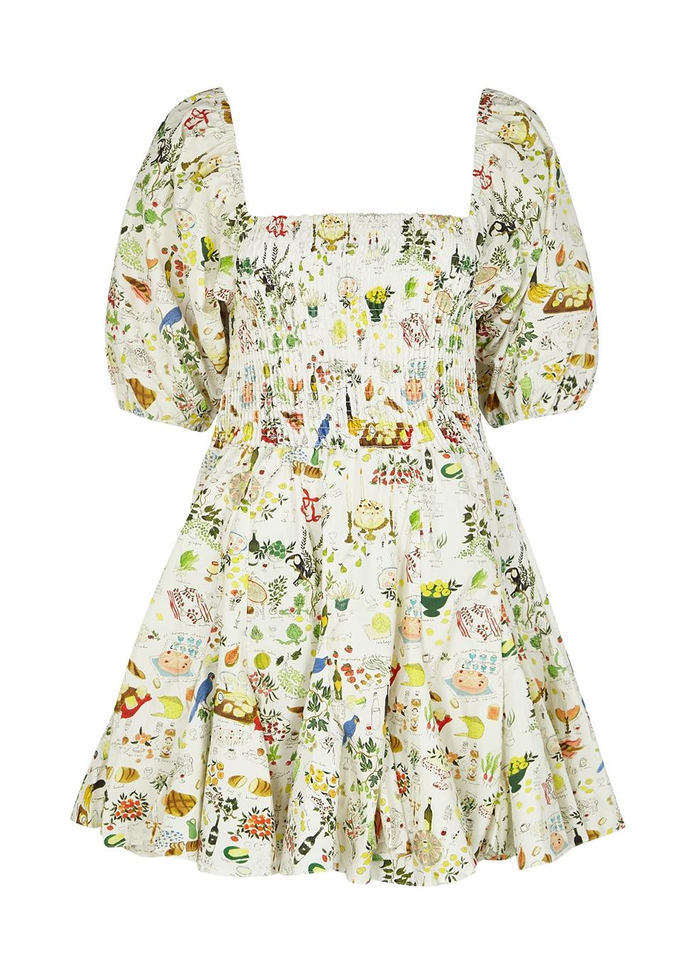 Astrid printed cotton mini dress