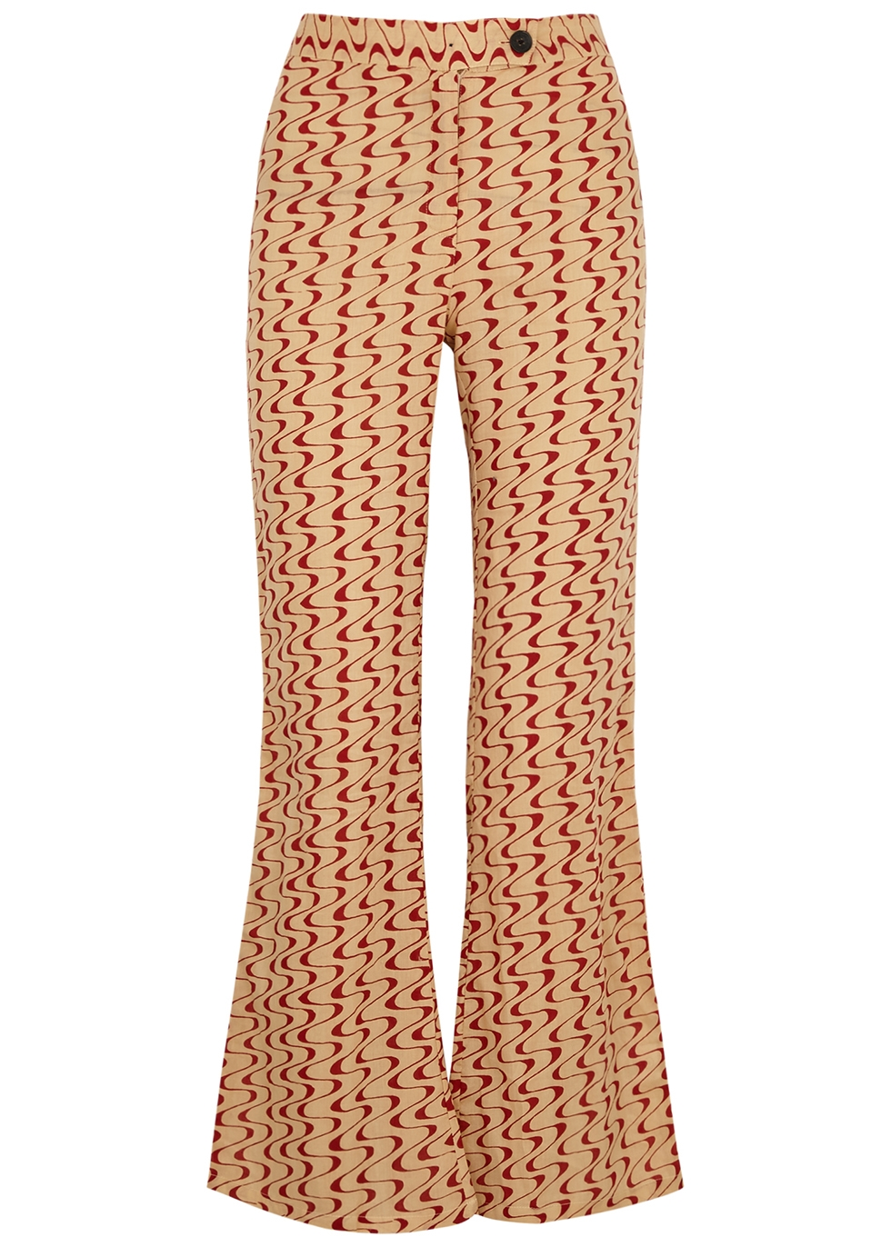 Disco printed cotton trousers