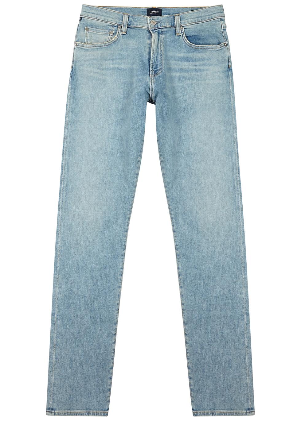 London light blue slim-leg jeans
