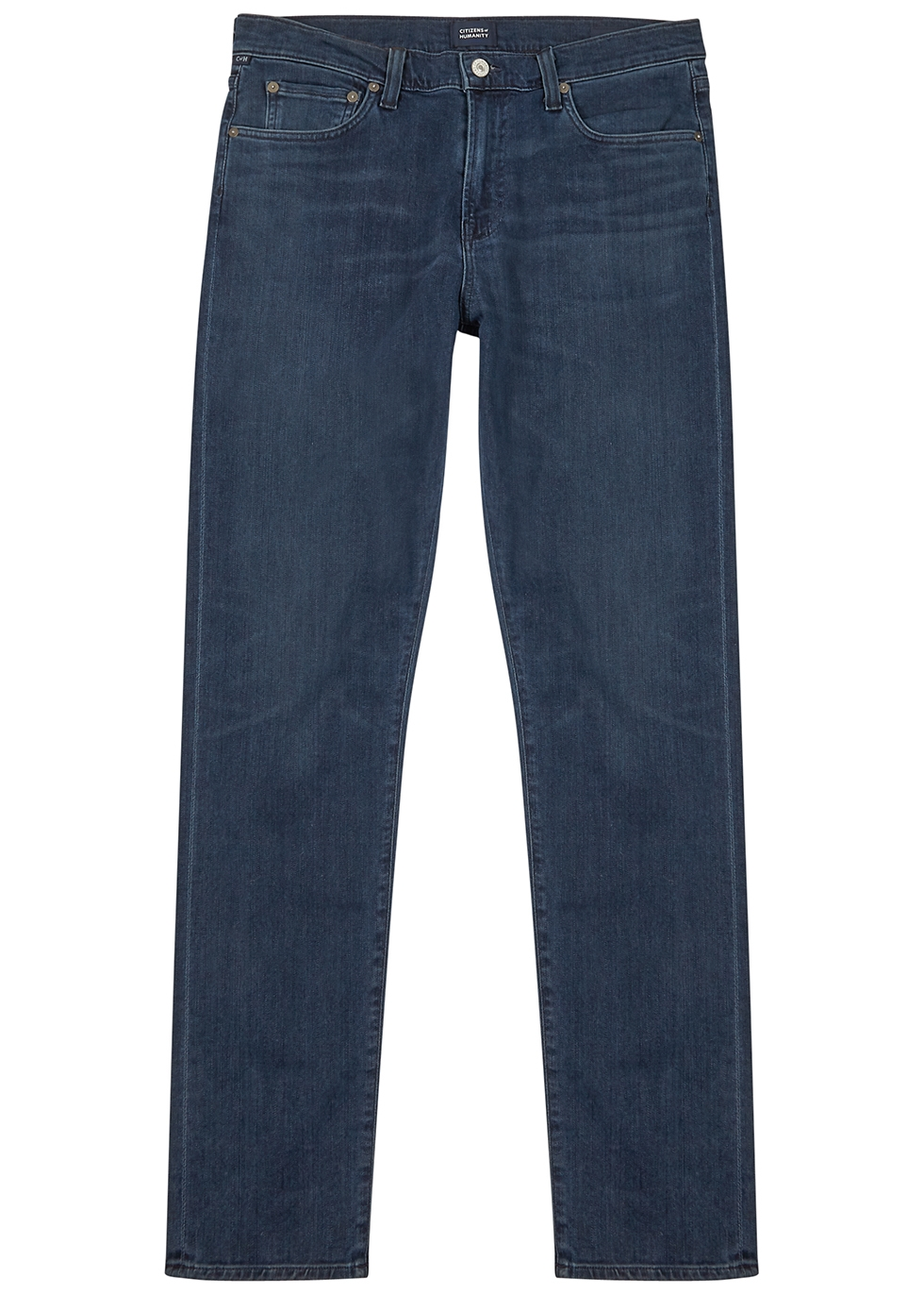 London dark blue slim-leg jeans