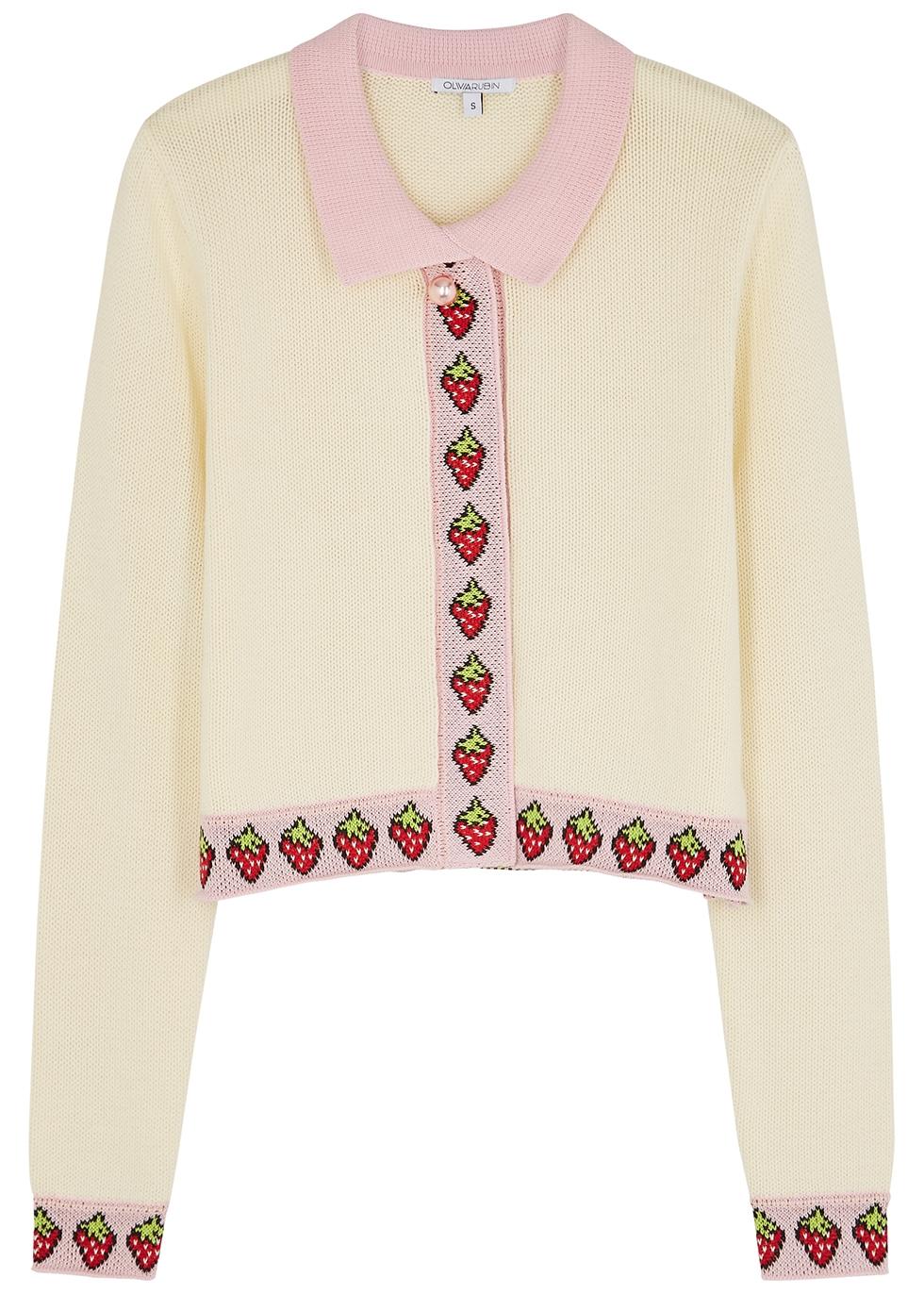 Bettina cream cotton cardigan
