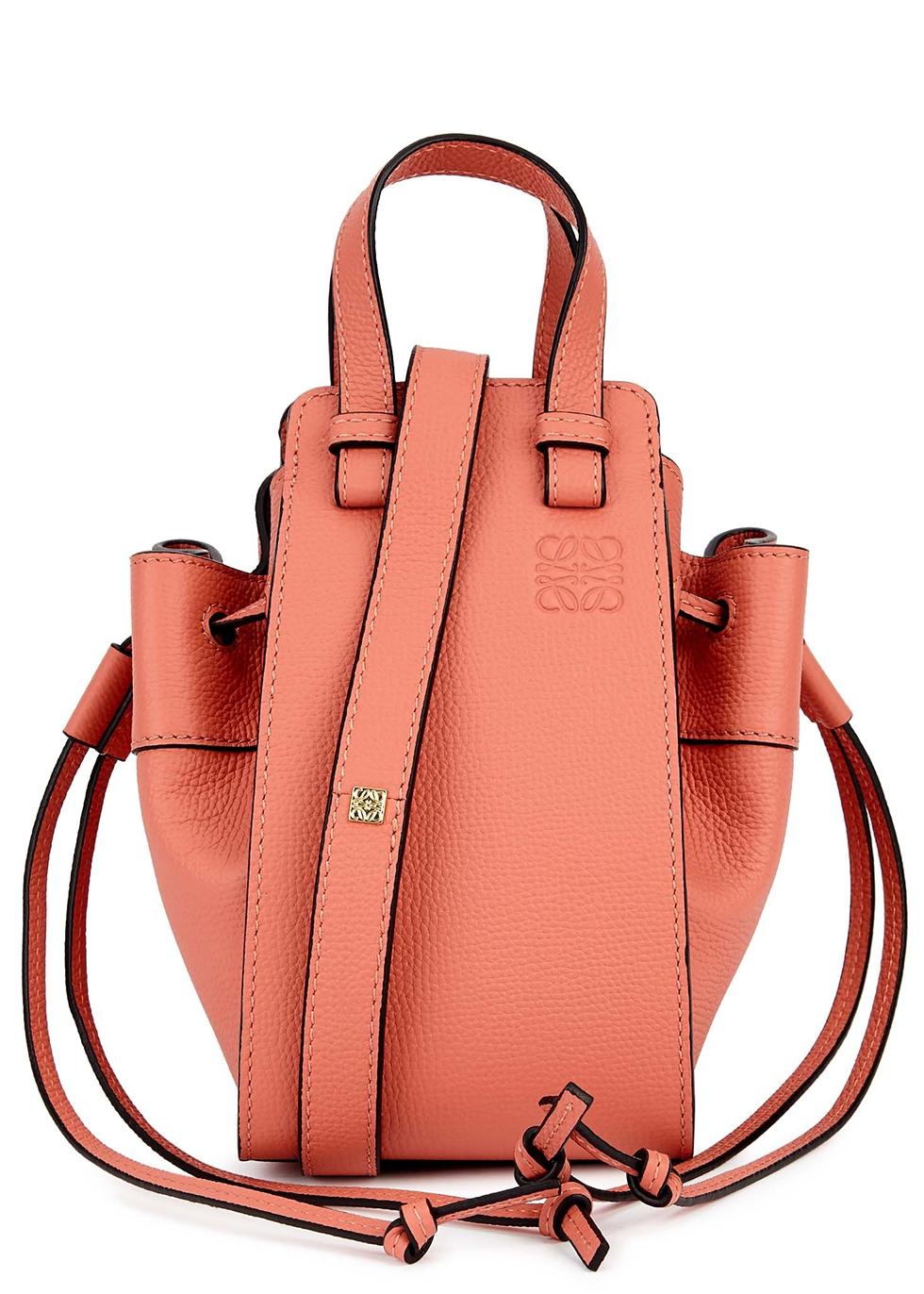 Hammock mini salmon leather cross-body bag