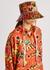 Pansy-print canvas bucket hat - Loewe