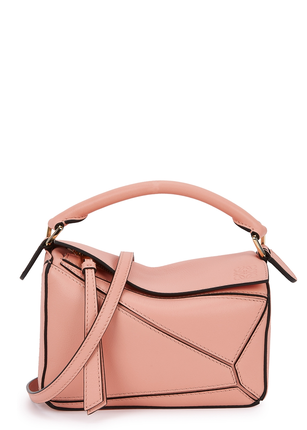 Puzzle mini pink leather cross-body bag