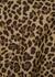 Leopard-print faille jacket - Valentino