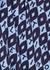 Blue printed stretch-crepe top - Valentino