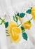 Rosa white embroidered cotton-blend mini dress - ALEMAIS
