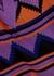 Purple intarsia knitted tank - Plan C