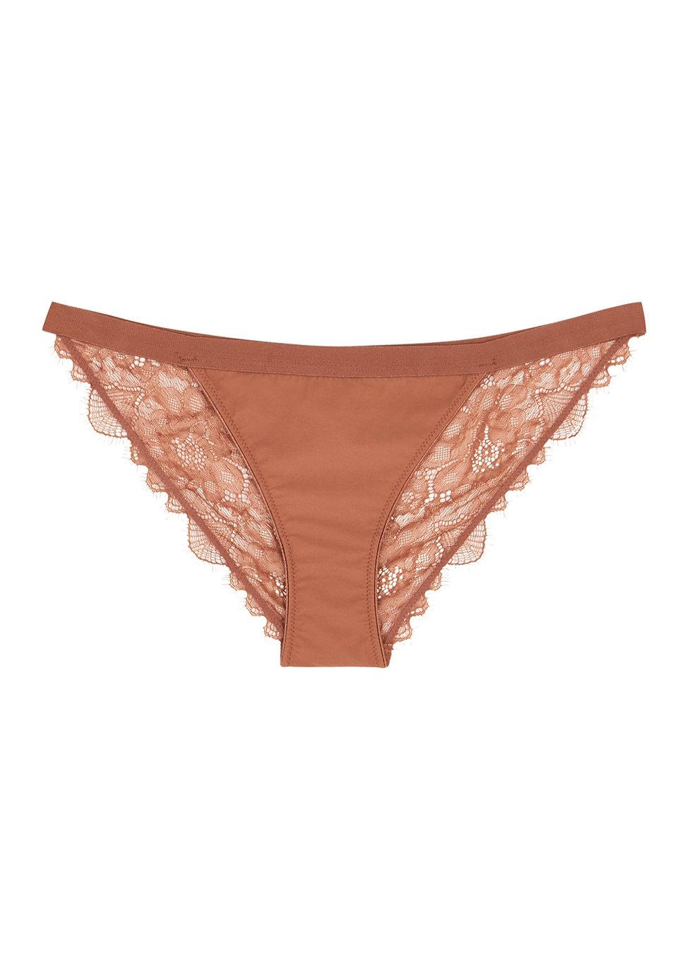 Wild Rose brown lace briefs
