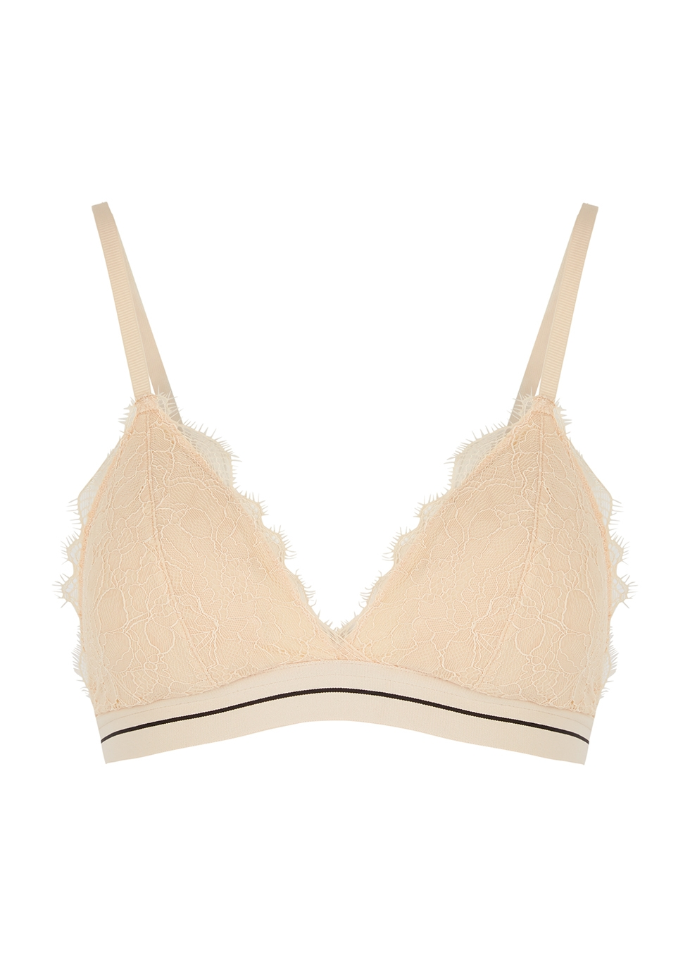 Darling almond lace bra