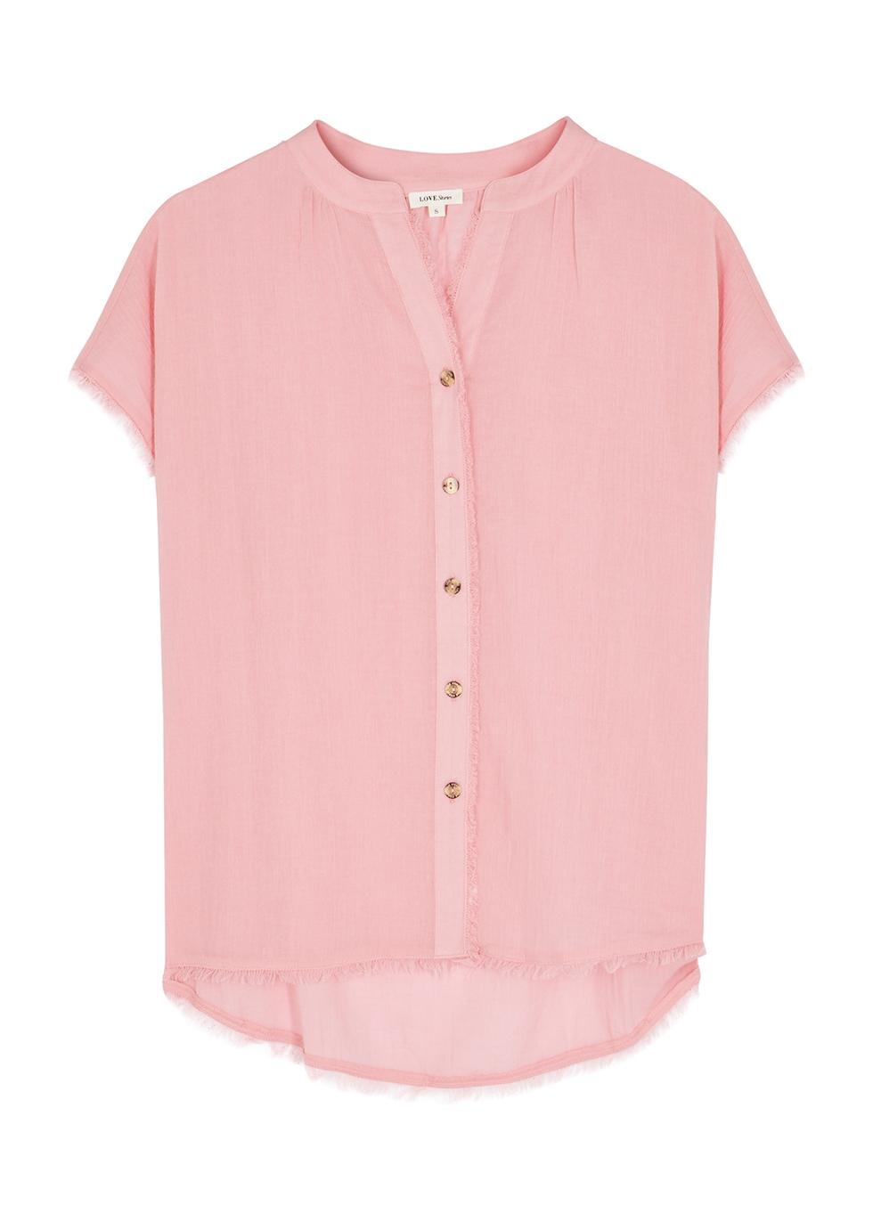 Pia pink cotton pyjama shirt