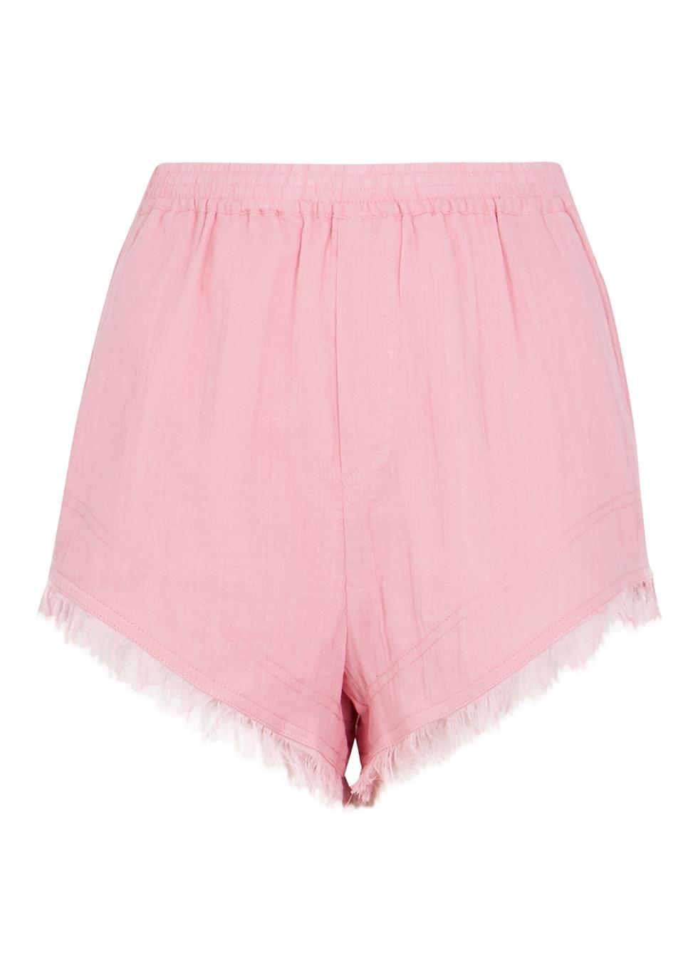 Mabel pink cotton pyjama shorts