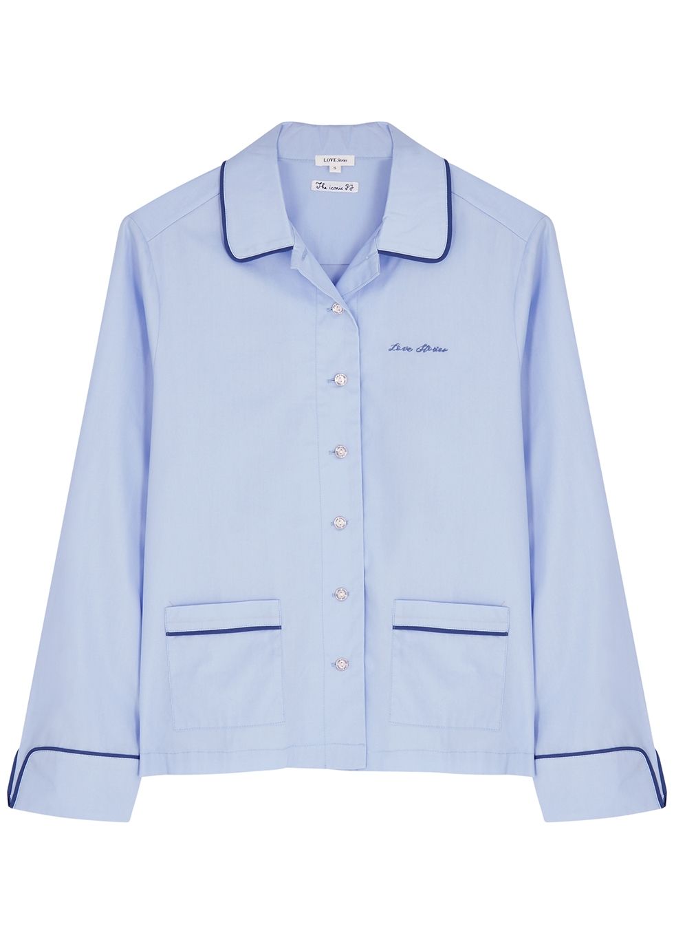 Joe blue cotton pyjama shirt