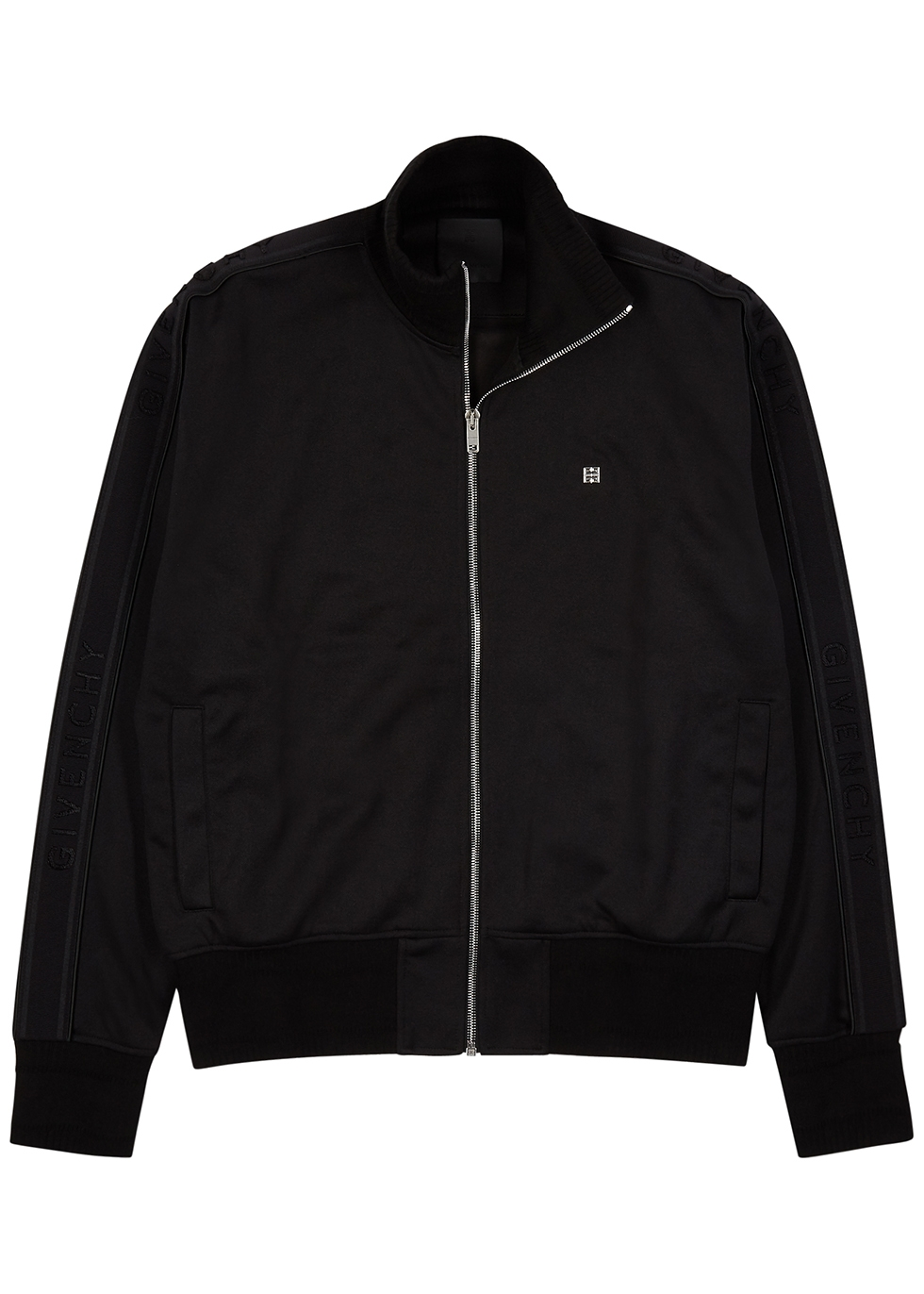 Black jersey track jacket