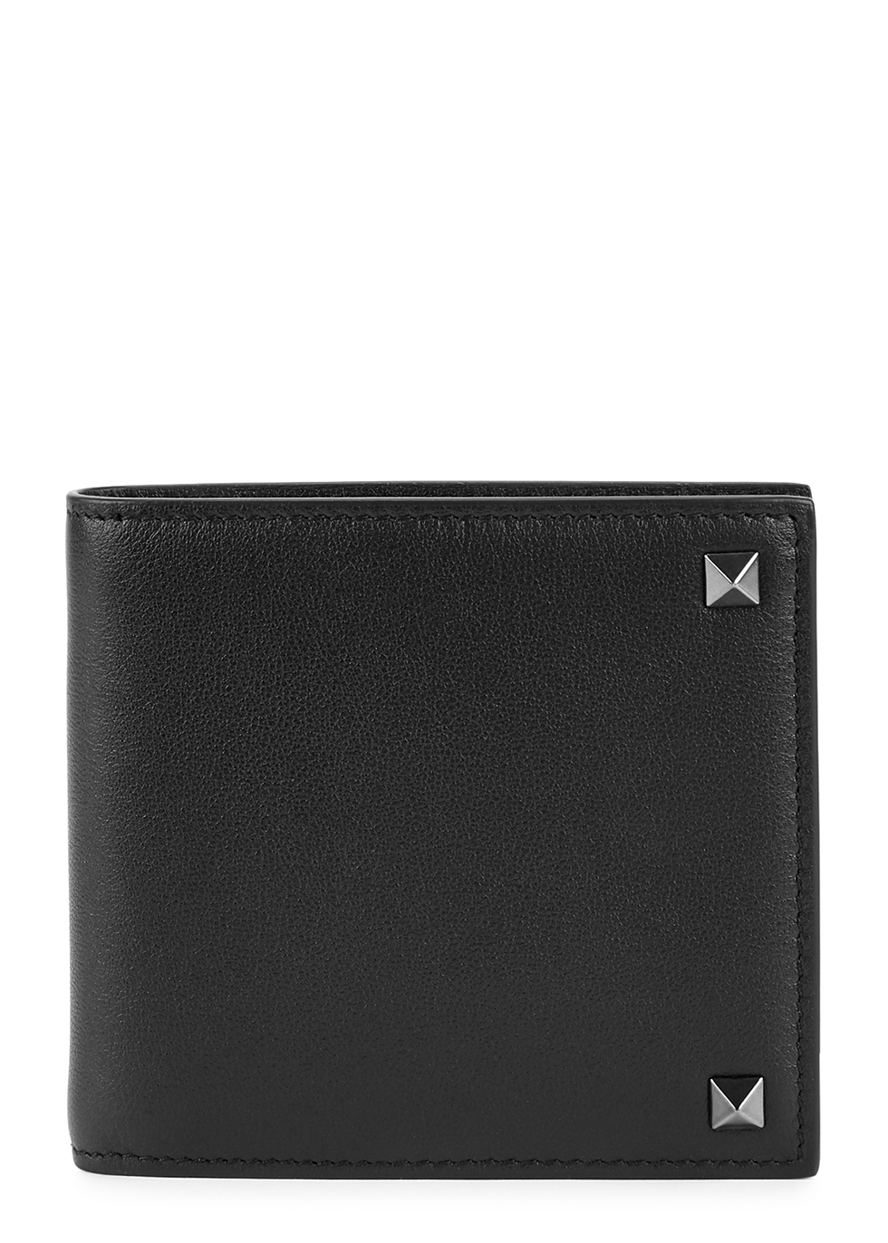 Valentino Garavani Rockstud black leather wallet