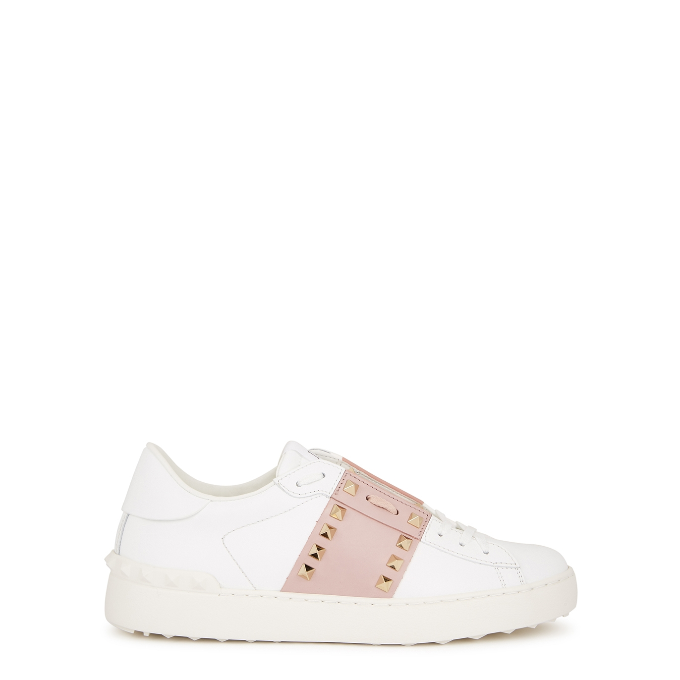Valentino Garavani Rockstud Untitled white leather sneakers