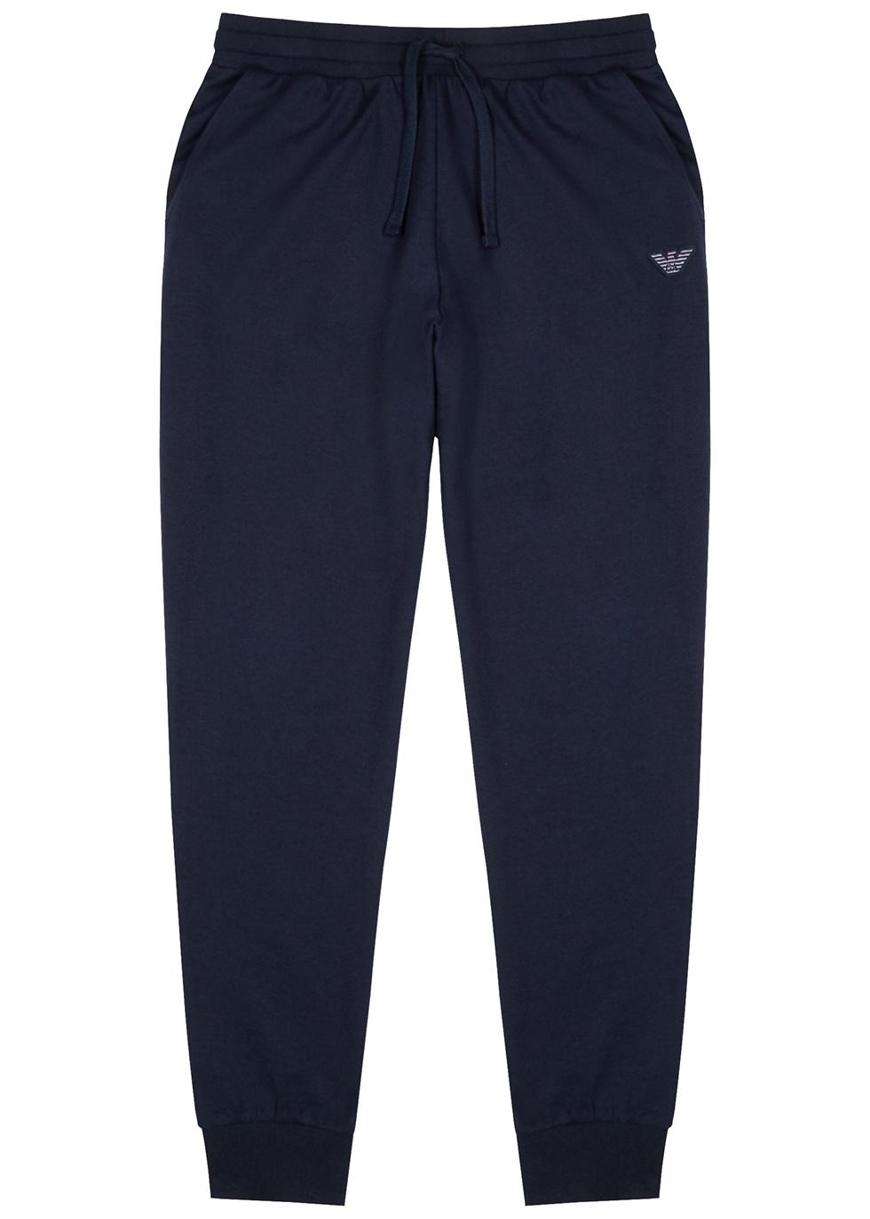 Navy jersey sweatpants