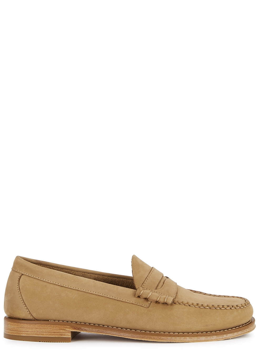 Weejuns Heritage camel nubuck loafers