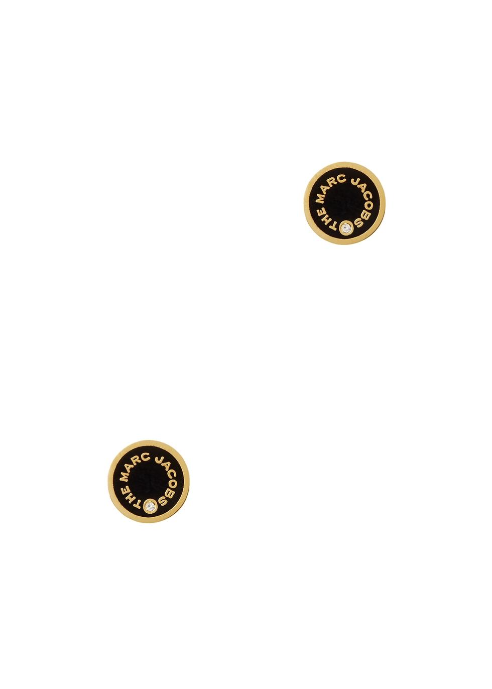 The Medallion gold-tone stud earrings