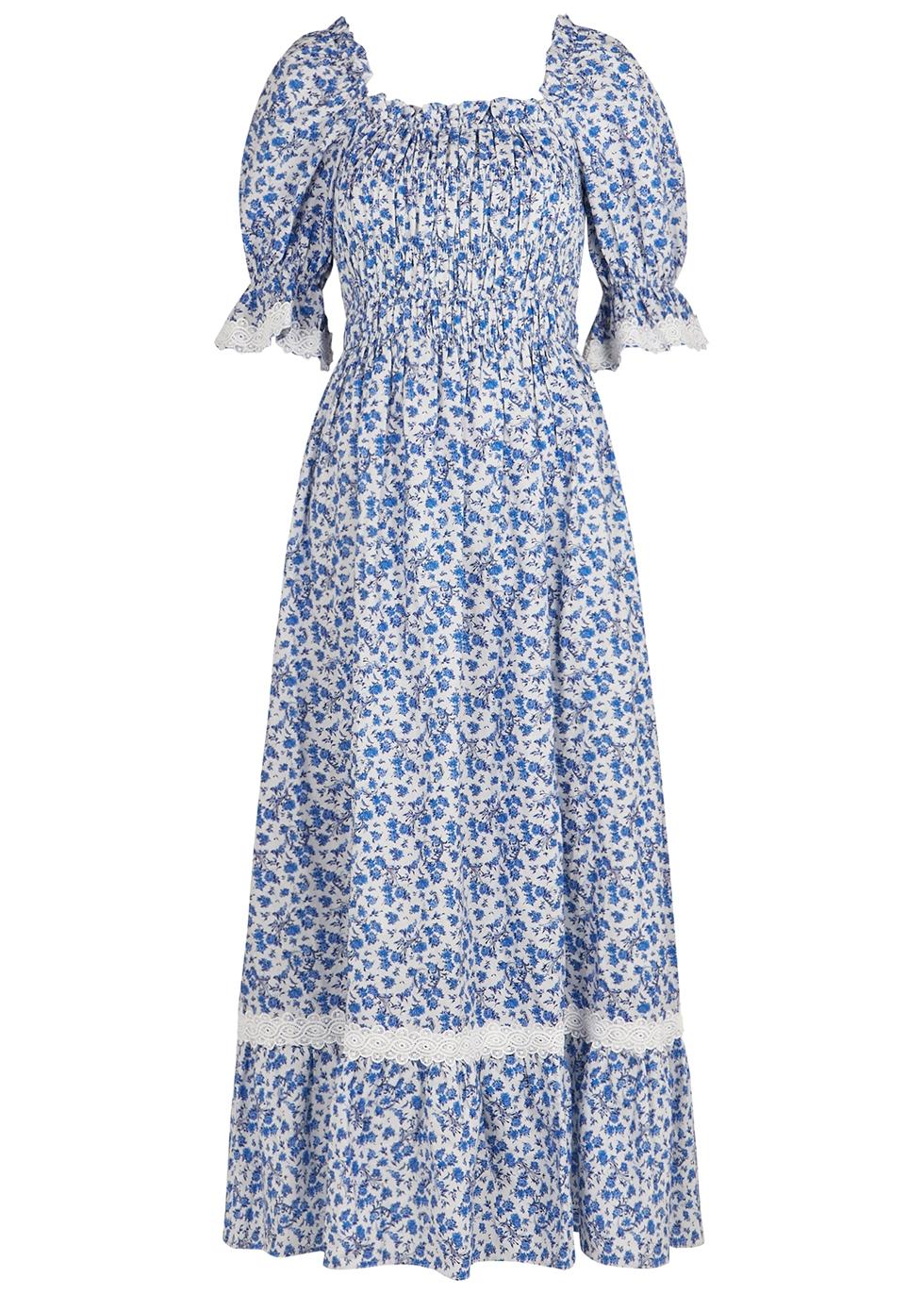 Elisa floral-print cotton-blend dress