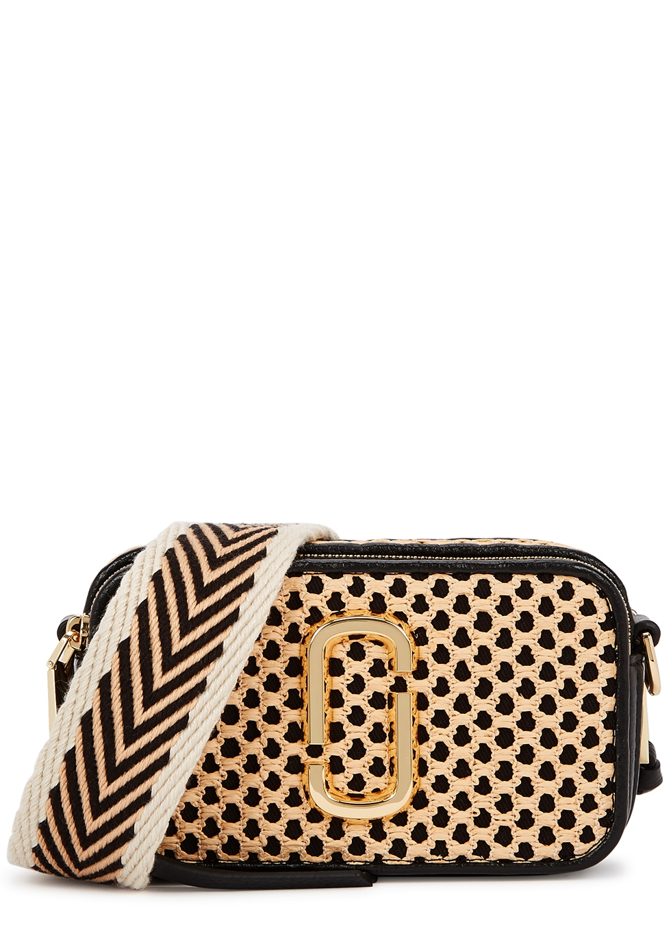 The Snapshot Cane panelled cross-body bag