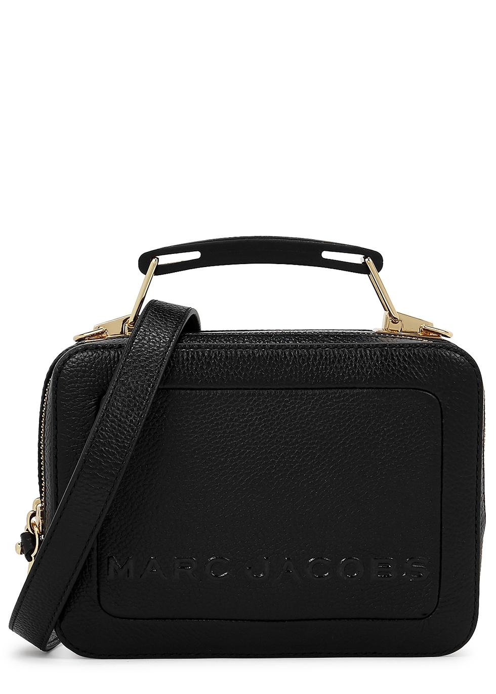 The Box 20 black leather cross-body bag