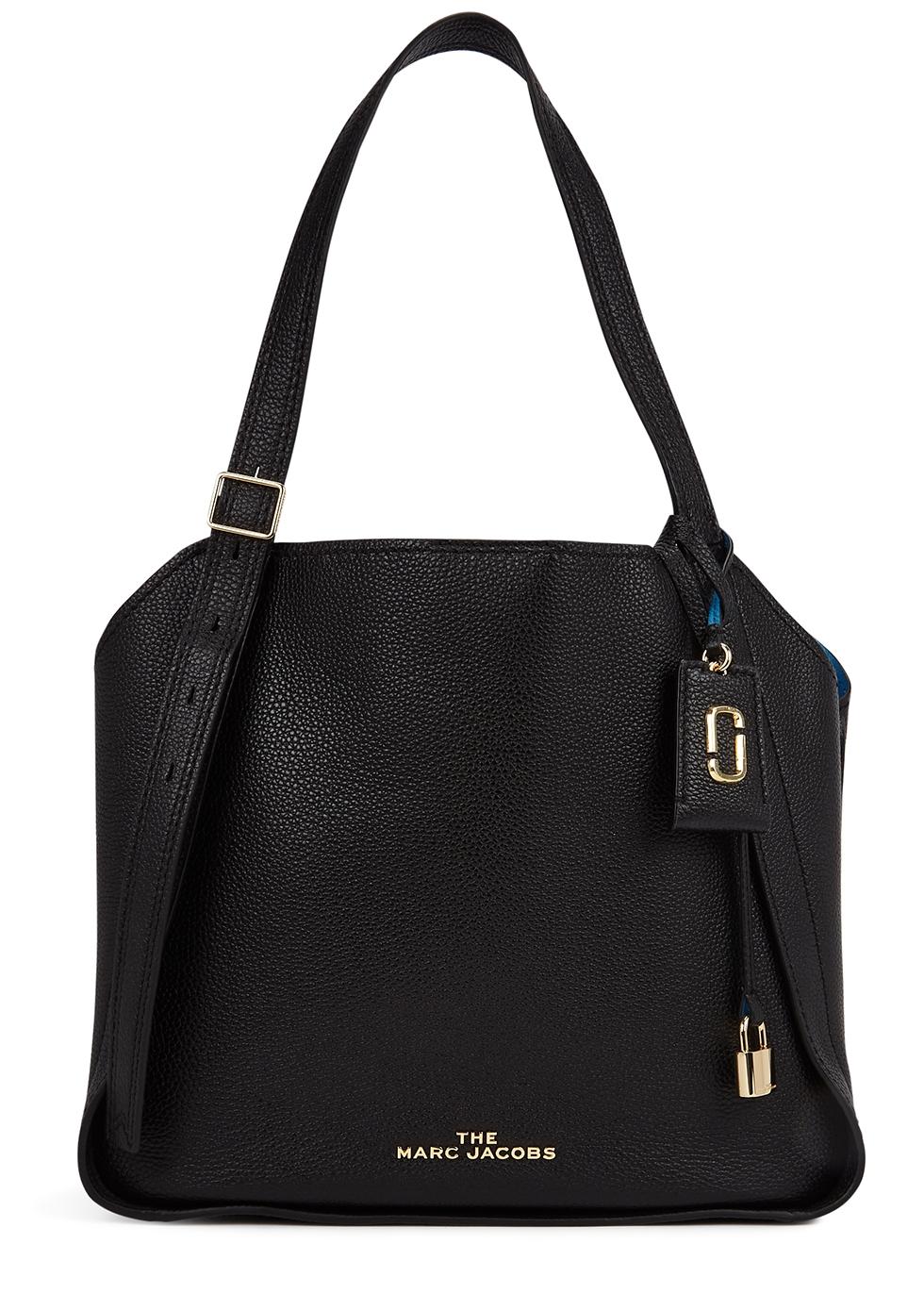 The Director black leather shoulder bag