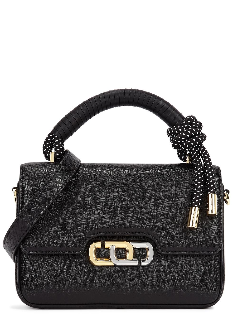 The J Link black leather top handle bag
