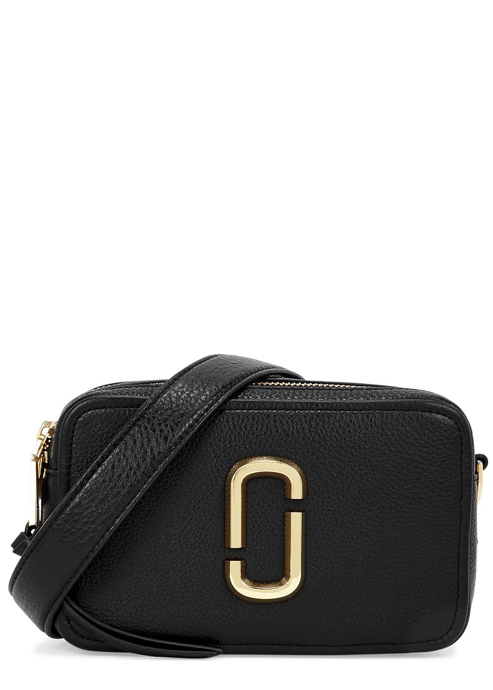 The Softshot 21 black leather cross-body bag