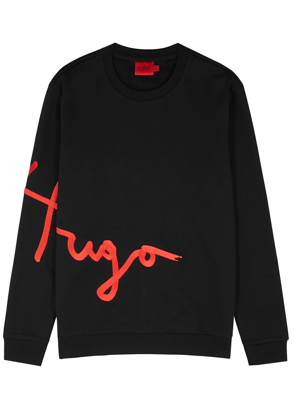 Dollins black embroidered cotton sweatshirt