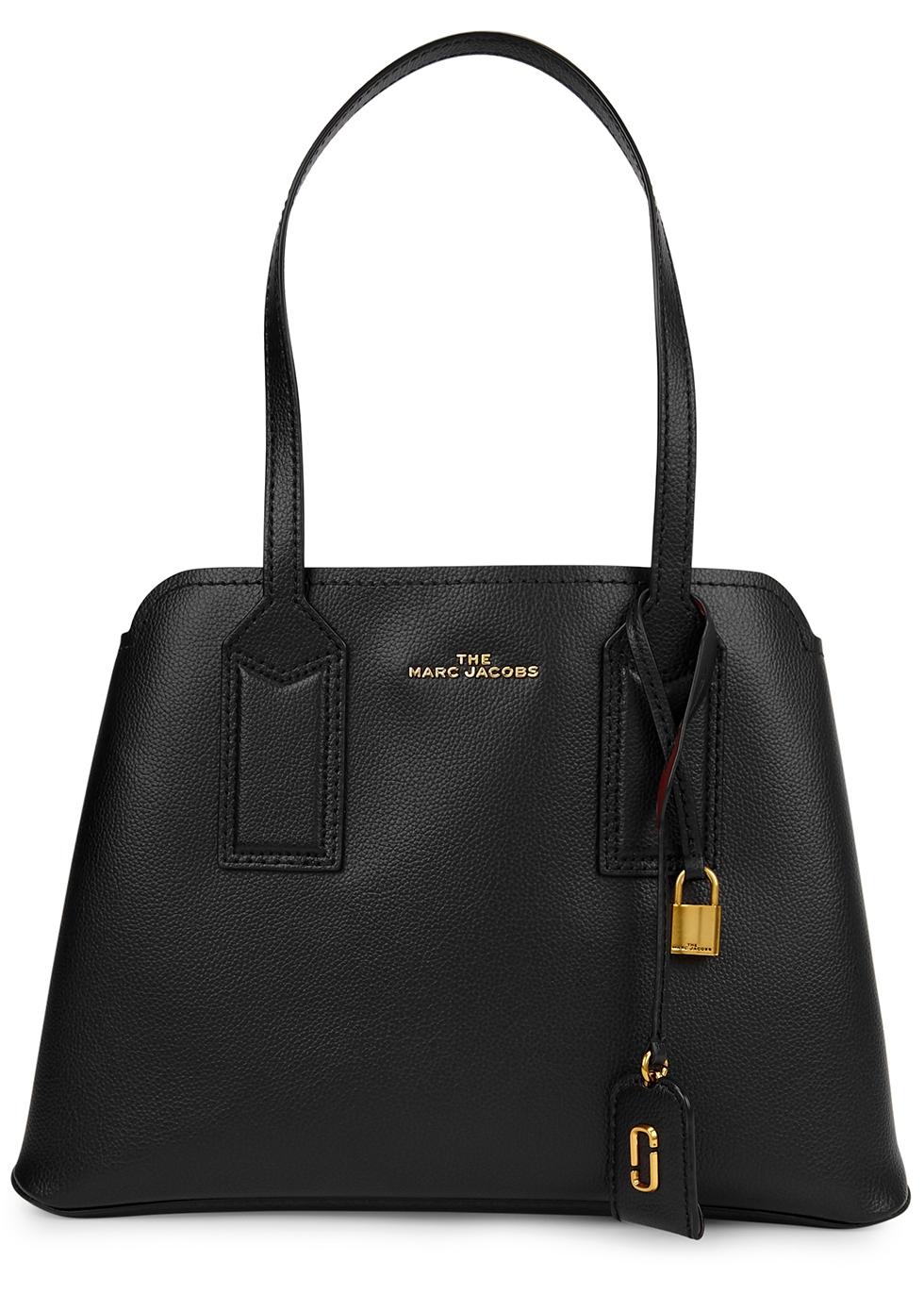The Editor 38 black leather shoulder bag
