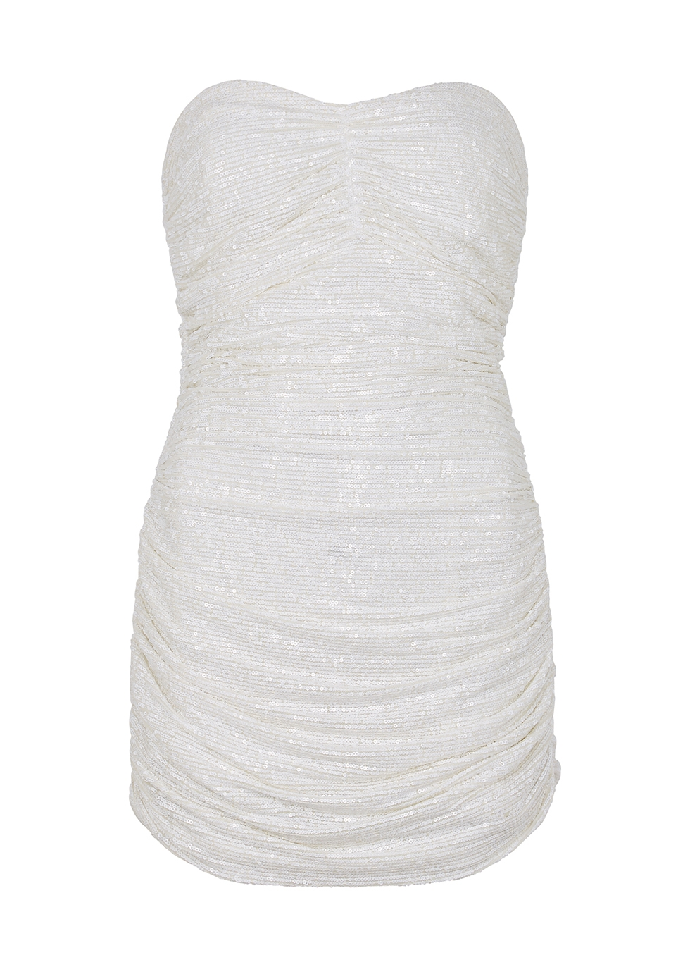 Fane white sequin mini dress