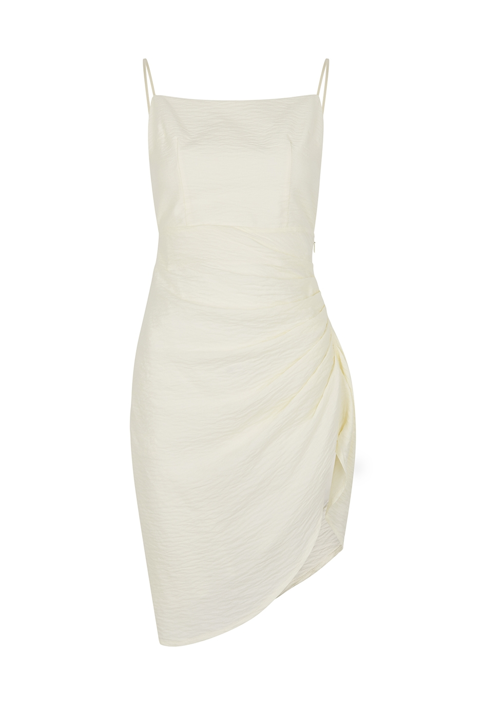Hepner ivory draped mini dress
