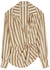 Joelle striped draped shirt - IN THE MOOD FOR LOVE