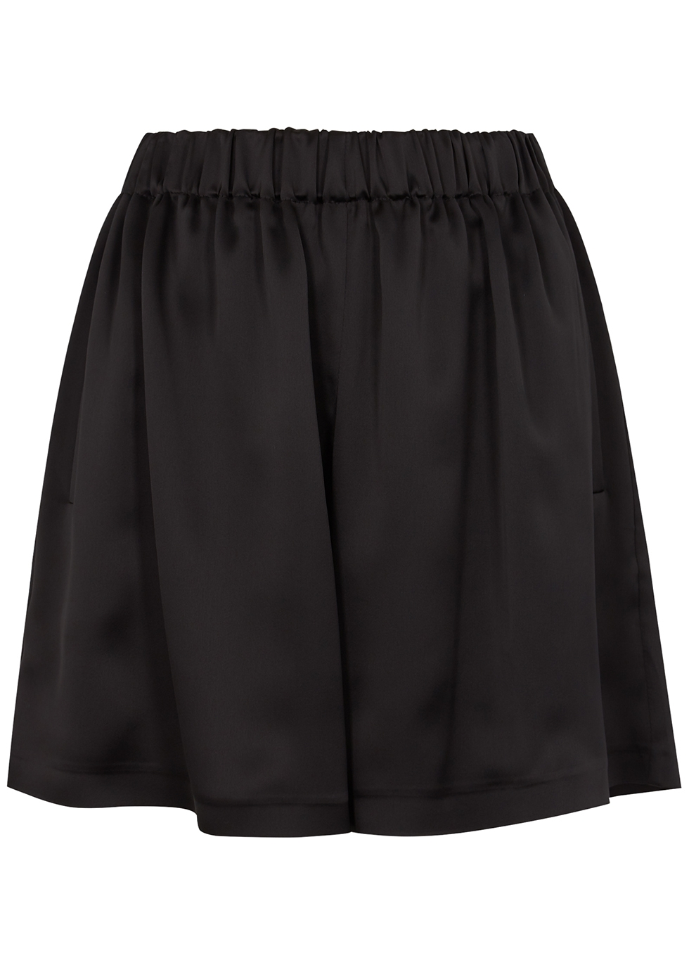 Rohmer black satin shorts
