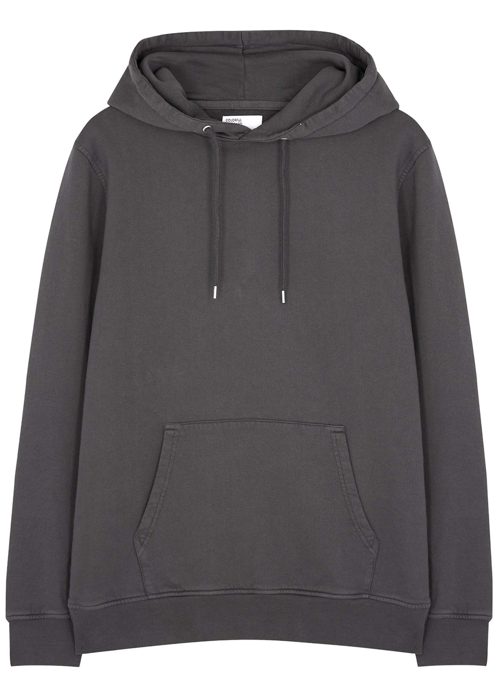 Charcoal hooded cotton sweatshirt