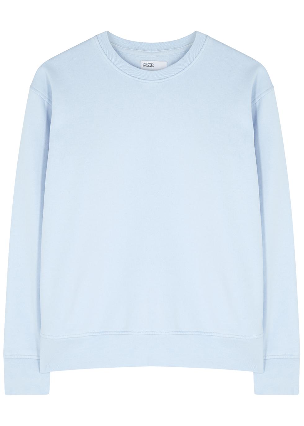 Light blue cotton sweatshirt