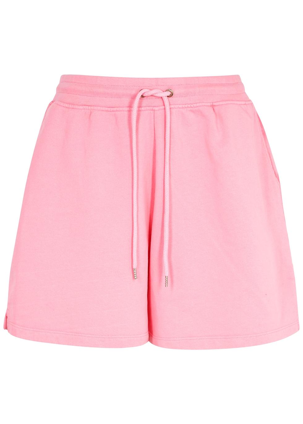 Light pink cotton shorts
