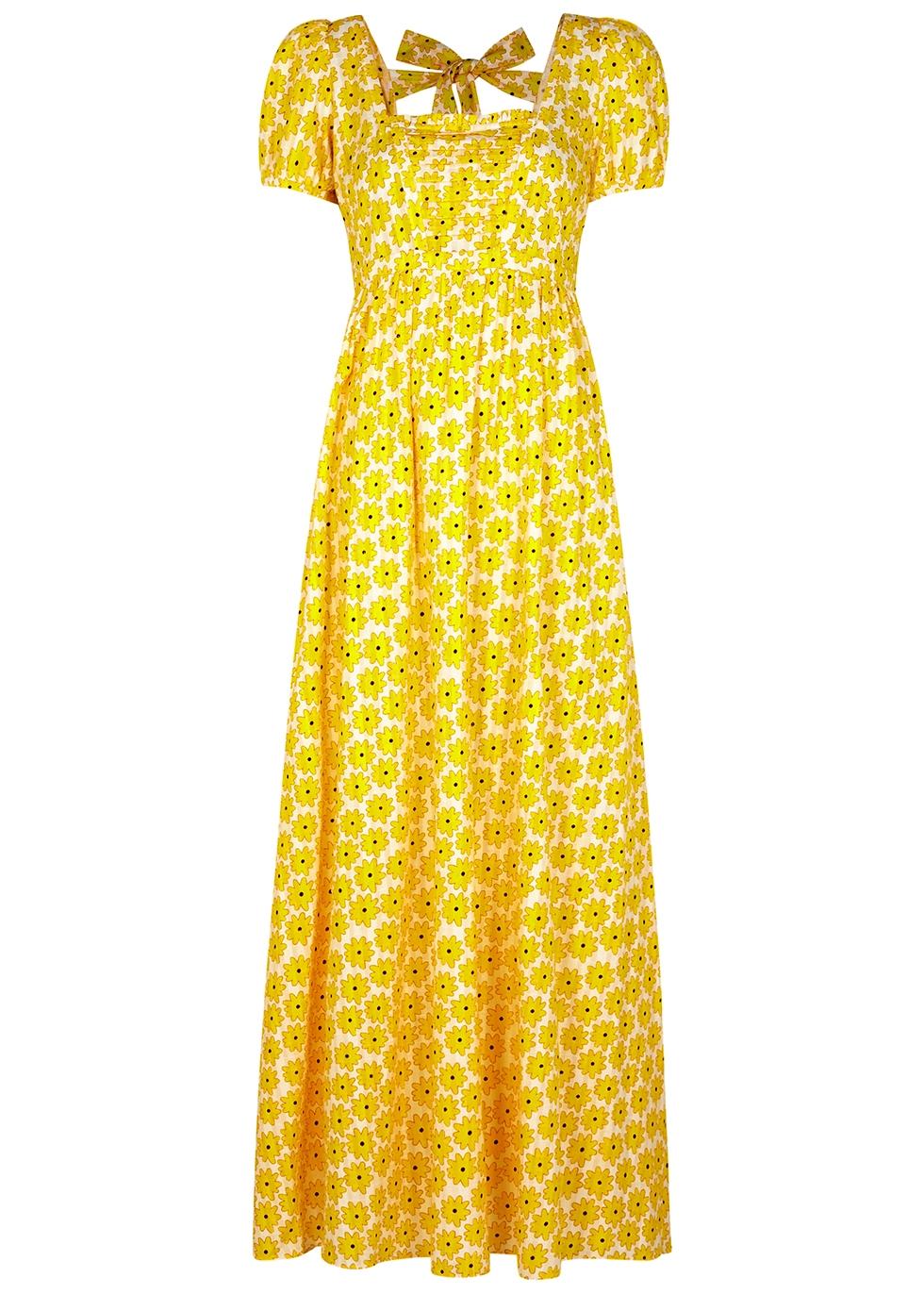 Poppy floral-print cotton maxi dress
