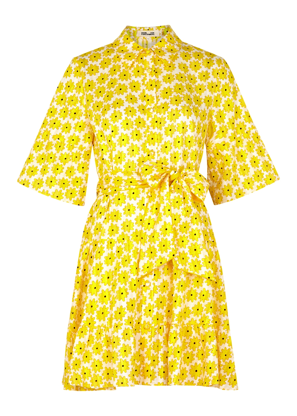Beata floral-print cotton mini dress