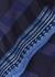 Rosa navy striped stretch-knit midi skirt - Diane von Furstenberg