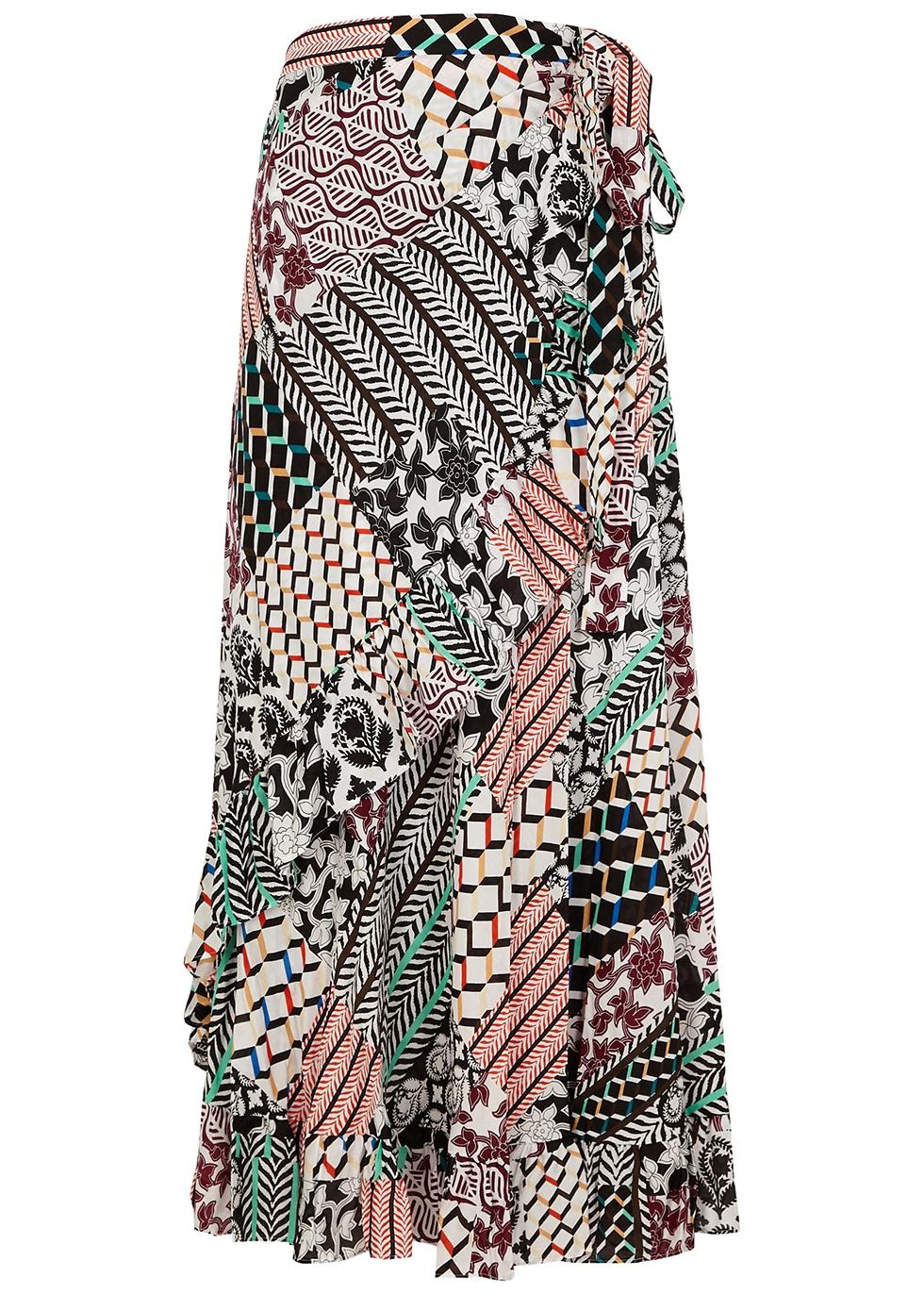 Rosalia printed wrap skirt