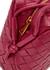 Intrecciato raspberry plum leather cross-body bag - Bottega Veneta