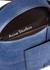 Musubi mini denim-effect nubuck cross-body bag - Acne Studios