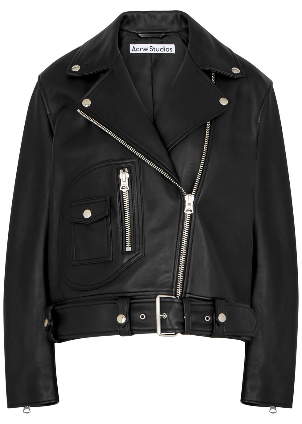 New Merlyn black leather biker jacket