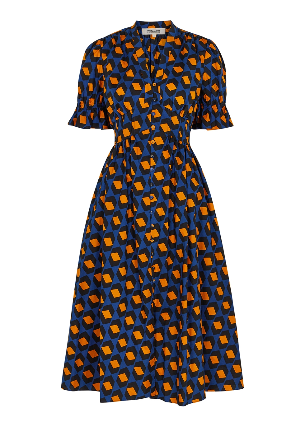 Erica printed cotton midi dress