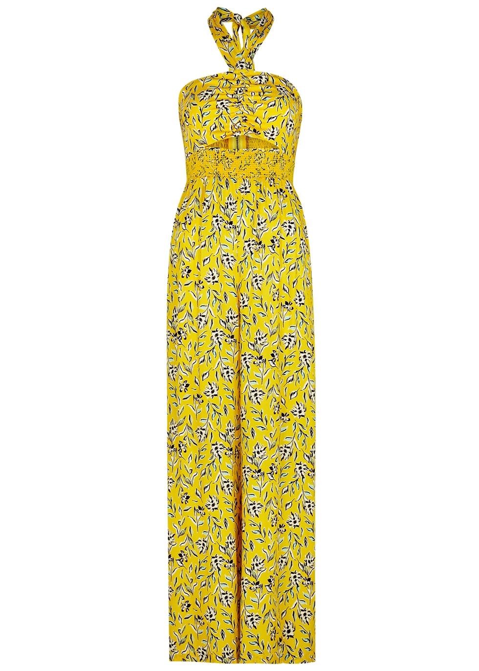 Alder floral-print halterneck jumpsuit