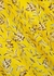 Glinda yellow floral-print mini dress - Alice + Olivia