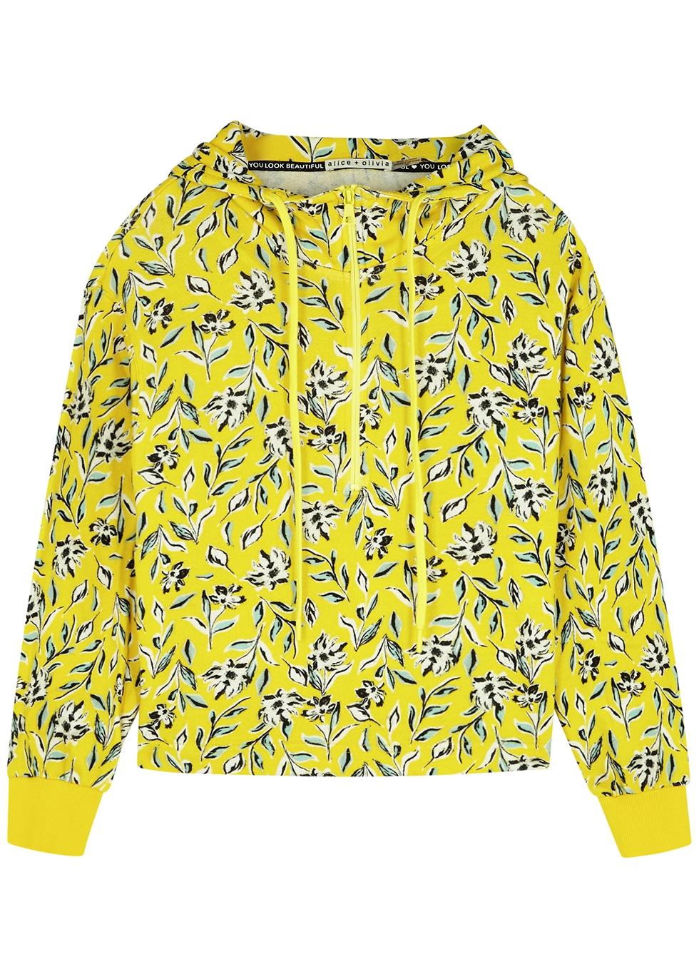 Quinlan floral-print hooded jersey sweatshirt