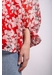 Chiffon mollie blouse in red floral print - Traffic People